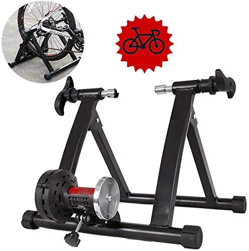 FHUILI Faltbare Bike Trainer - Fahrrad Turbo Trainer Indoor-Training Turbo Trainer Faltbare Fahrrad MTB Rennrad Roller Fahrrad Stationäre Trainingsstation Magnetic Resistance,A