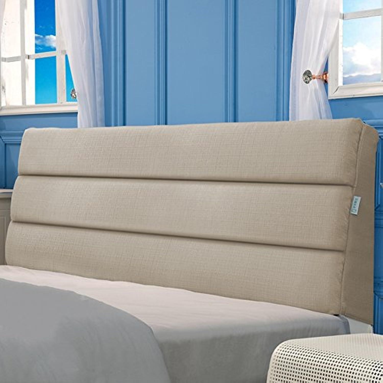 WENZHE Kopfteil Kissen Bett Rückenkissen Rückenlehne Für Bett Bettkeile Keilkissen Palettenpolster Doppelbett Tuchkunst Bettdecke Zuhause Waschbar, 6 Farben