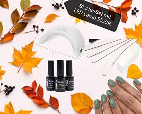 SYSI Shellac Nagellack, Vegan & Made in Germany, UV Lack Gellack 6ml Nageldesign Nail Polish (Starter Set mit UV LED Lampe)
