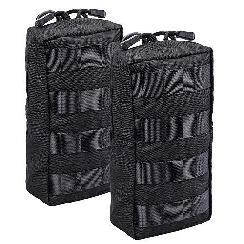 Magarrow Tactical Molle Pouch Taille Hängetasche, Zubehör Halter, Black- 2pcs