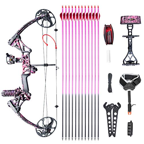 XGeek Womens Compound Bow,with Hunting Accessories