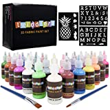 TWIDDLERS 30 Bottle of 3D Fabric Paints - 30 Different Bright Colours - Includes Neon, Fluorescent, Glow in The Dark & more - Ideal for Textile, Fabric, T-Shirt, Canvas, Wood, Ceramic & Glass