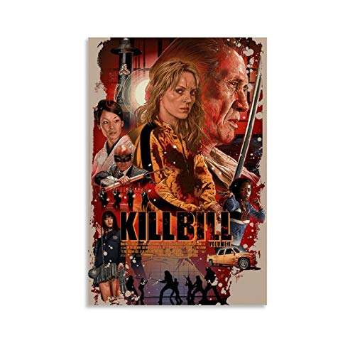 SDFQ Movie Poster Kill Bill Canvas Art Poster Picture Modern Office Family Bedroom Decorative Posters Gift Wall Decor Painting Posters