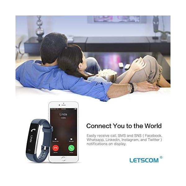 Fitness Tracker, letscom deportes Fitness Tracker reloj con Slim pantalla táctil, pulsera de actividad Tracker como… 7