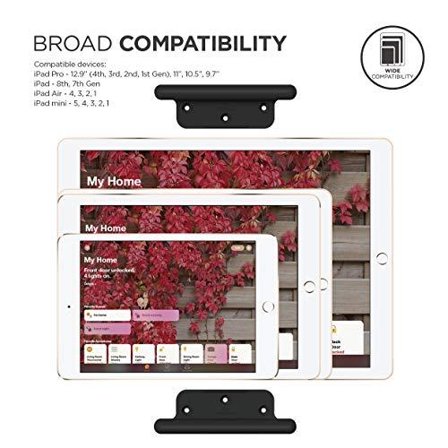 elago Home Hub Mount Tablet Wandhalterung Kompatibel mit Apple iPad, iPad Air/Pro, Samsung Galaxy Tab, meisten Tablets – Einfaches Montieren, Kratzfestes Silikon, Kabelmanagement Inclusive (Schwarz)