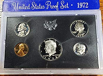 1972 S Gem 5-Piece Proof Set penny nickel dime quarter half Original Packaging Proof Coins US Mint