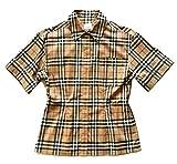 BURBERRY Eleanora 80258231 Archive - Camisa de manga corta para mujer, color beige Check Beige 34