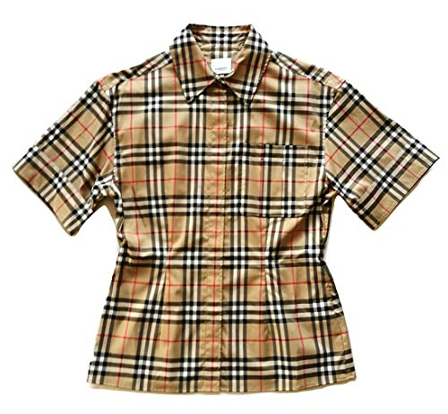 Burberry Damen Hemd Kurzarm Eleanora 80258231 Archive Beige Check Beige Check Beige 42