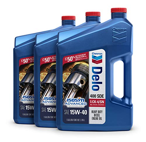 Delo 400 SDE SAE 15W-40 Motor Oil - 1 Gallon Jug, (Pack of 3)