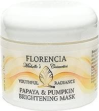 Florencia Papaya & Pumpkin Brightening Exfoliating Mask, Youthful Radiance, Deep Exfoliation. Normal, Dry, Oily, Combination Skin Type.