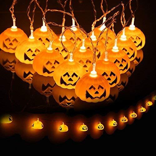 SUPAREE Luces LED de Cadena 3D, Pumpkin String Lights LED con Pilas,Decoración de Bricolaje para Halloween/Fiestas temáticas/Carnaval/Fiesta/Celebración y Otros Ocasiones Especiales