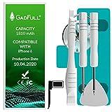 GadFull Batería de reemplazo para iPhone 6 | 2020 Fecha de producción | Incluye Kit de Herramientas Profesional de reparación Manual | Funciona con Todos los APN Originales