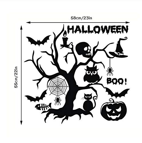 Classic Creative Halloween Wall Stickers Window Showcase Home Room Festival Decoration Art Decal Decor Wall Stickers