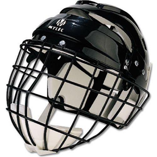 Mylec Jr. Helmet with Wire Face Guard, Black