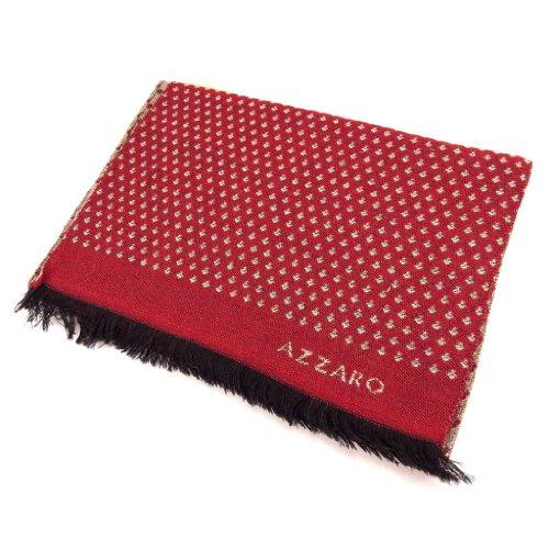 AZZARO [K8096 - Echarpe laine rouge taupe