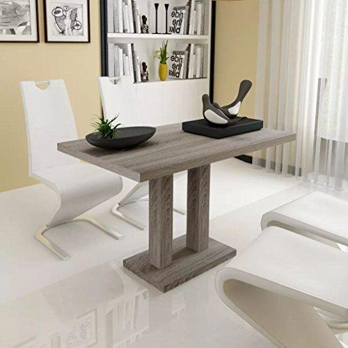 XingliEU Deze eettafel met eikenhouten look afmetingen: 120 x 70 x 75 cm (L x B x H). Deze tafel creëert een comfortabele eetkamersfeer.