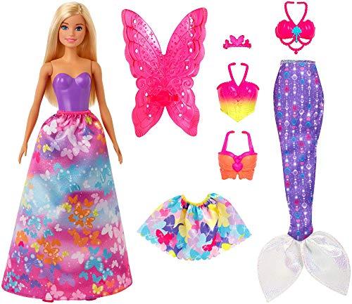 Barbie- Dreamtopia Playset con Bambola Bionda con 3 Outfit, Giocattolo per Bamini 3+ Anni, GJK40