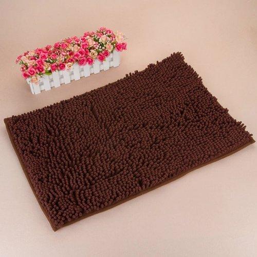 """KLOUD City Dark Brown Anti-Slip Microfiber Carpet/Doormat/Floor Mat/Bedroom/Kitchen Area Rug Carpet (31"""" x 20"""")"""