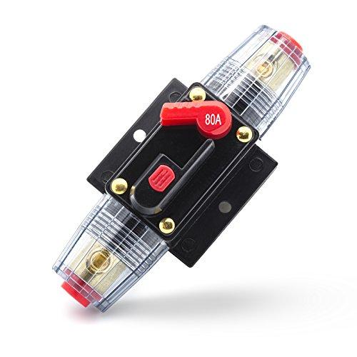 Adapter Universe 80 A Automatische Sicherung Automatik Schalter 12 24 V Spritzwasserschutz für Auto Boot Motorrad