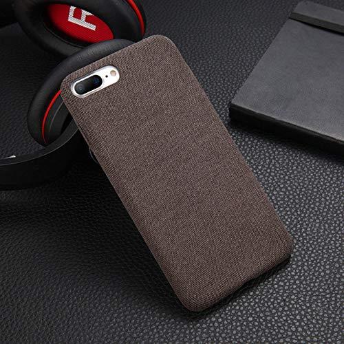 KKAAVV Pluche stoffen telefoonhoes voor Apple iPhone 11 Pro X XS Max XR 8 7 6s 6 Plus warm pluche mode zachte achterkant cover hoezen Capa, Für iPhone 11, koffie