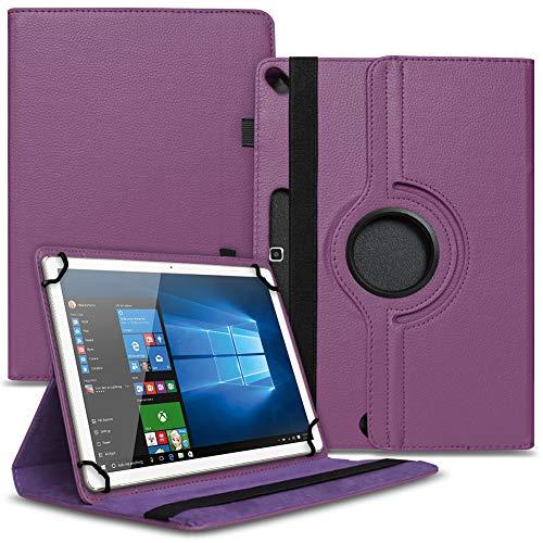 Tasche Hülle kompatibel für Archos 101b Oxygen Tablet Cover Schutz Hülle Schutzhülle 360° Drehbar, Farbe:Lila