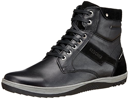 Red Chief Leather Men's Black Boots-7 UK/India (41 EU)(PF3470 001)