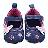 Baby Walking Shoes for 0-18 Months,Newborn Infant Girl Boy Anti-Slip Soft Sole Butterfly Shoes Prewalker (6-12 Months, Blue)