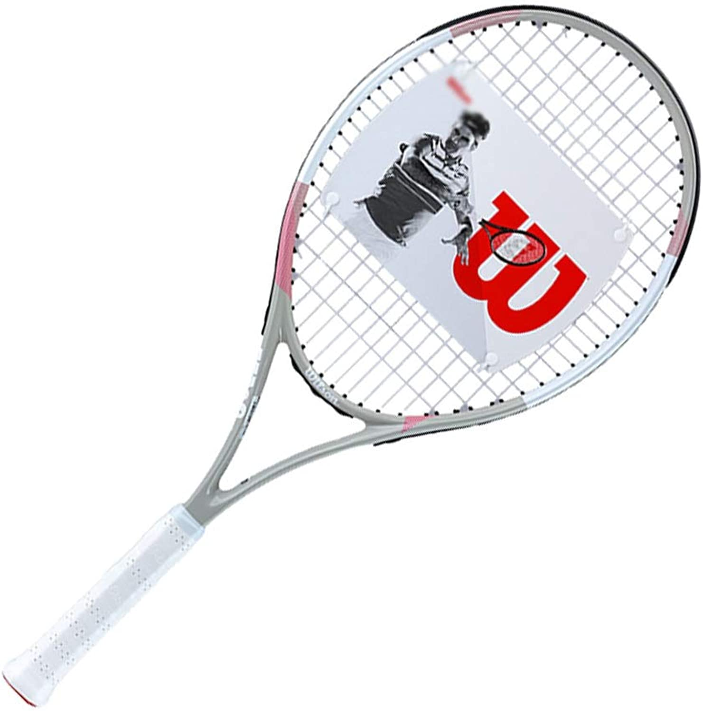 Tennisschlger Kohlenstofflegierung Professionelle Leichte Sport Unisex Unterhaltung Freizeitschlger (Farbe   Wei, Größe   68.6cm)