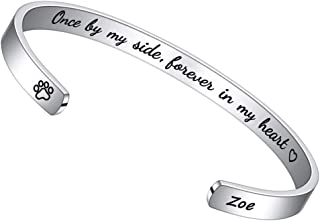 PAERAPAK Pet Memorial Gifts for Dogs - Engraved Pets Name Bracelet DogSympathyGifts Remembrance Loss of Pet Gifts Inspirational Mantra Cuff Bracelets for Women Dog Memorial Gifts