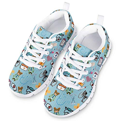 chaqlin - Zapatillas para niño Oso de Enfermera Azul