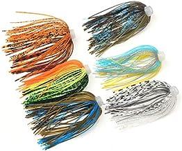 10pc Baitfish Jig Skirt For Spinner Bait JIG Skirt Banded Fishing Skirts SF046