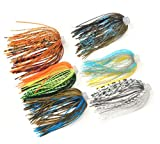 Jig Skirts Lures Kit Replacement Skirts for Spinnerbait Skirts 88 Strands Quick Change Jig Skirts...
