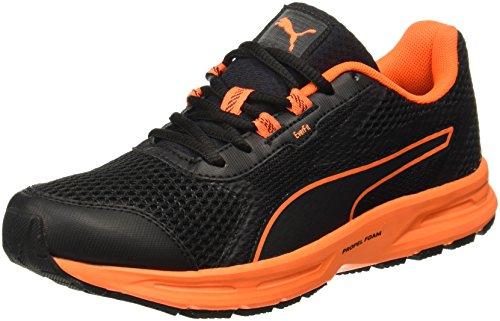 Puma Men's Essential Runner Puma Blackshocking Orange Running Shoes - 7 UK/India (40.5 EU) (19101303)