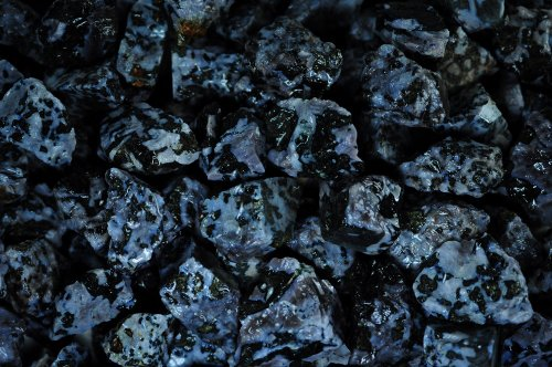 Fantasia Materials: 1 lb Indigo Gabbro/Mystic Merlinite Rough Stones from Madagascar