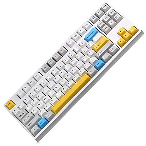 juqingshanghang1 87 Key Mechanische Gaming-Tastatur PBT-Tastencaps Geeignet für Computerperipheriegeräte (Axis Body : Brown Switch)