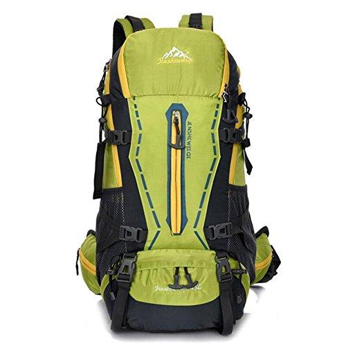 45L Backpack Unisexe Voyage Climb Sacs à dos étanche Sac à dos en nylon Randonnée Sac à dos , light green