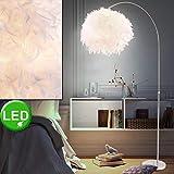 Steh Leuchte Feder Kugel Beleuchtung Fußschalter Lampe höhenverstellbar im Set inkl LED Leuchtmittel