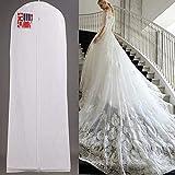 Eillybird Extra Large Garment Bridal Gown Long Clothes Protector Atmungsaktiver Reise Anzugsack Kleidersäcke Brautkleidersack Clear Wedding...