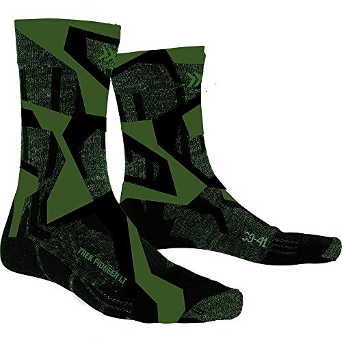 X-SOCKS Trek Pioneer Light Chaussette Mixte Adulte, Forest Green/Modern Camo, FR : XL (Taille Fabricant : 45-47)