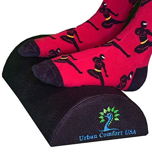 Ergonomic Foot Rest for Under Desk at Work - Computer Foot Rest - Rocking Footrest Pillow - Office Chair Footrest - Small Footstool for Under Desk - Gaming Foot Rest
