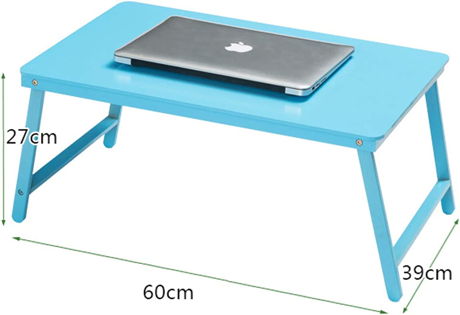 NYDZ Household Foldable Laptop Tables Portable Student Dorm Room Bed Table Lazy Table Desk Learning Table Small Table (color   bluee)