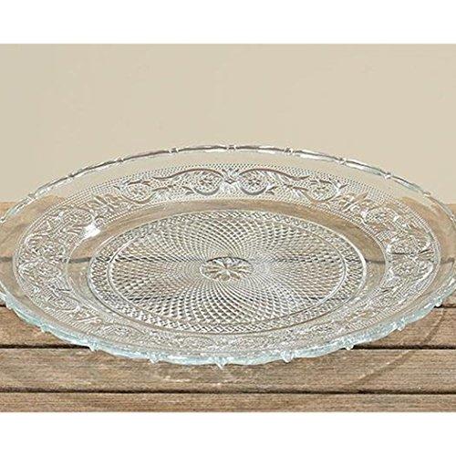 Teller Servierplatte Platzteller aus Glas Relief 30cm
