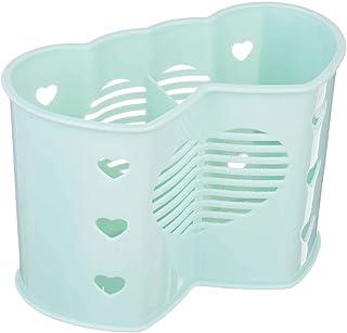حامل ملاعق بلاستيك شكل قلب من كيتشنز، جزئين - اخضر مينت