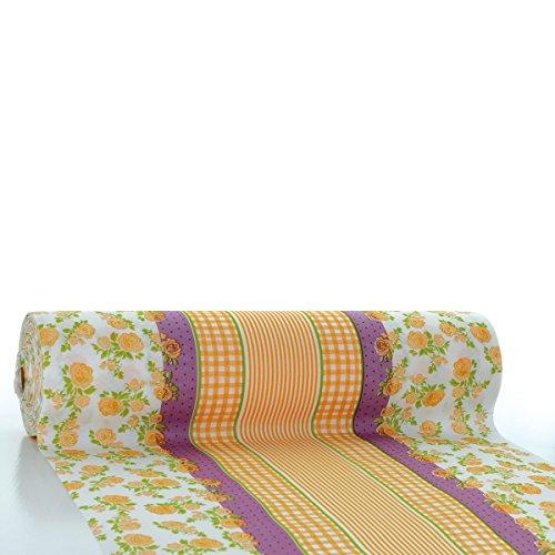 Vichy HORECA tafelloper | Linclass® Airlaid tafelloper 40 cm x 24 m | tafelkleden op rol stofachtig | wegwerptafelkleed voor bruiloft & feestjes Curry