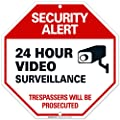 "Video Surveillance Sign - Security Alert - No Trespassing Sign - ""Legend - Large 12 X 12 Octagon Rust Free 0.40 Aluminum Sign"