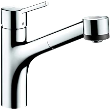 Hansgrohe Talis S Easy Install 1 Handle 9 Inch Tall Kitchen Faucet With Pull Down Sprayer With Quickclean In Chrome 06462000 Medium Touch On Kitchen Sink Faucets Amazon Com