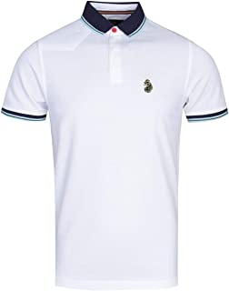 Luke 1977 Regular Fit Tipped White Polo Shirt