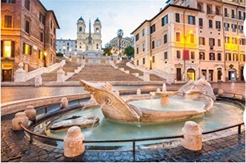HCYEFG Puzzle 1000 Piezas Piazza De Spagna En Roma Italia Arte Bricolaje para Adultos Mayores Adultos