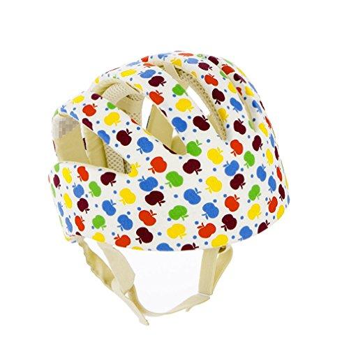 Qiorange Kleinkind Safety Helmet gegen Stöße für Babyhelm Kopfschutzmütze beim Lauflernen verstellbar (Bunte)