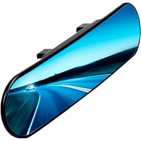 Chytaii Rückspiegel Auto Panorama Spiegel Anti Blend Rückspiegel Mit Winkeleinstellung Runder Winkel Gebogen Universal Für Auto Rückspiegel 30x7 5cm Garten